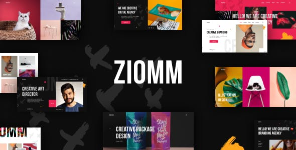 Ziomm - Creative Agency & Portfolio WordPress Theme