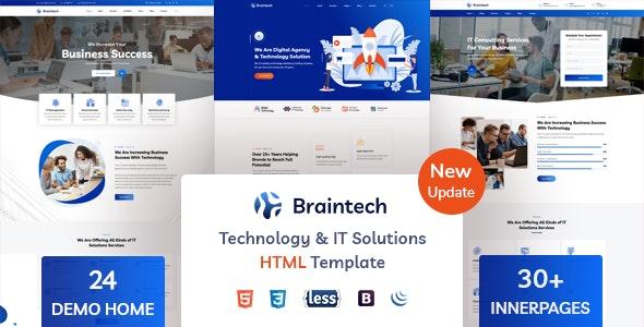Braintech - Technology & IT Solutions HTML Template - Software Technology