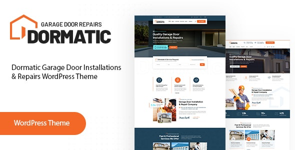 Dormatic – Garage Door Repair WordPress Theme - Business Corporate