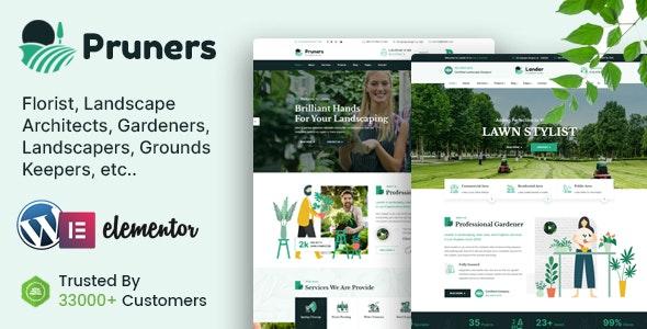 Pruners - Garden Landscaper WordPress Theme - Business Corporate