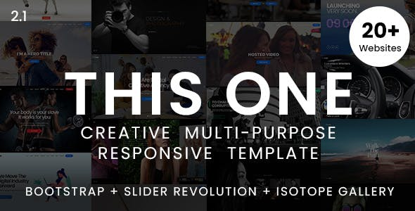This One - One Page Responsive Website Template