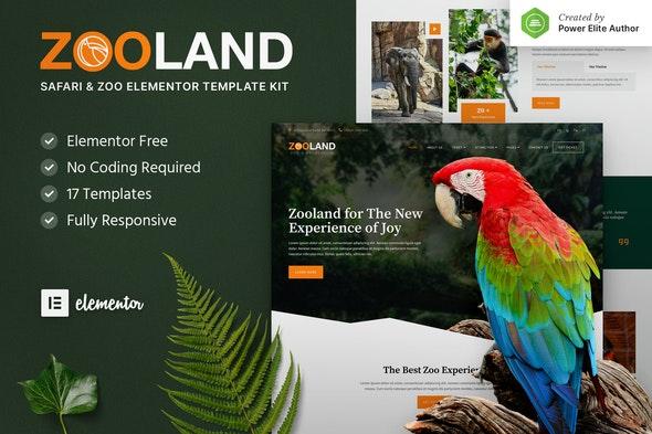 Zooland – Safari & Zoo Elementor Template Kit - Travel & Accomodation Elementor