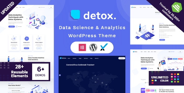 Detox - Data Science & Analytics WordPress Theme - Technology WordPress