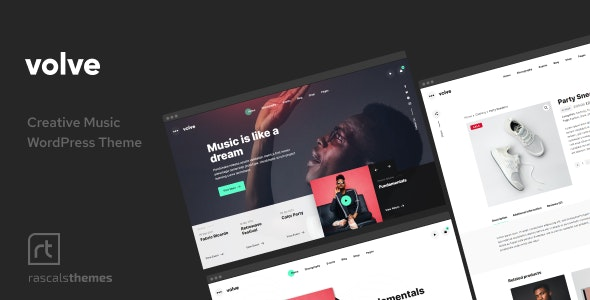 Volve - Creative Music Theme - Music and Bands Entertainment