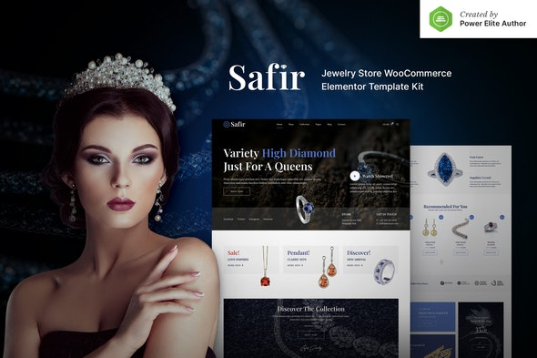 Safir – Jewelry Store WooCommerce Elementor Template Kit - Shopping & eCommerce Elementor