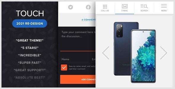 TOUCH: A Lighter-than-air WordPress Mobile Theme - Mobile WordPress