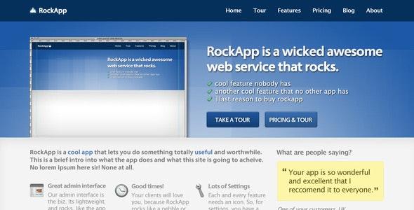 App Site Marketing / Promo - Marketing Corporate