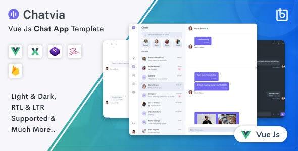 Chatvia - VueJs Chat App Template - Admin Templates Site Templates