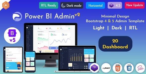 Power BI Admin - Responsive Bootstrap Admin Templates with UI Framework