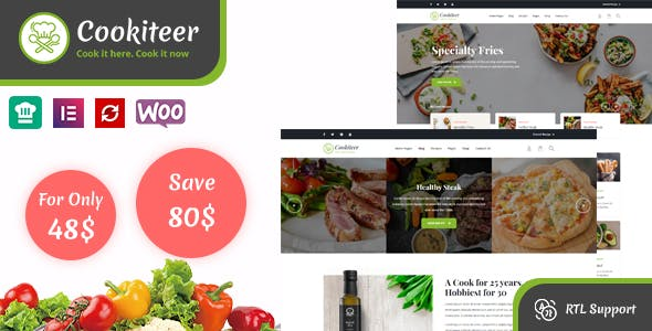 Cookiteer - Food & Recipe WordPress Theme