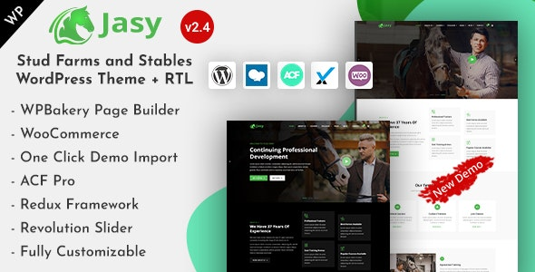 Jasy - Horses & Stables WordPress Theme - Miscellaneous WordPress