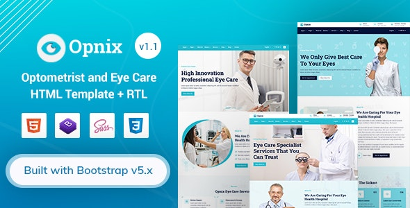 Opnix - Eye Care & Optometrist HTML Template - Business Corporate