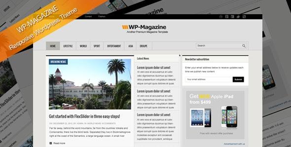 WP-Magazine responsive Wordpress theme - Blog / Magazine WordPress