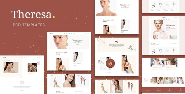 Theresa - Jewelry E-commerce PSD Template