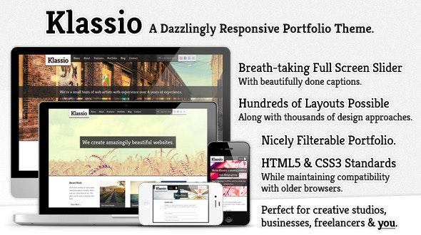Klassio - Responsive Business Portfolio Theme - Creative Site Templates