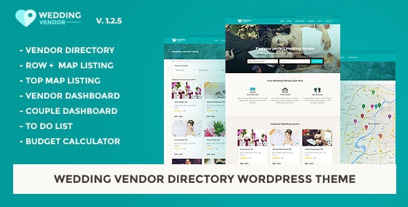 Wedding Vendor Directory & Listing WordPress Theme - Directory & Listings Corporate