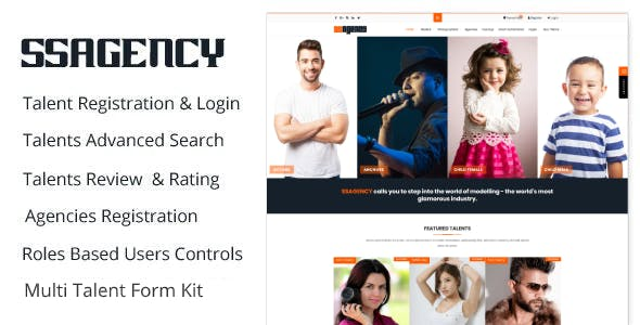 Ssagency - Fashion & Modeling World WordPress Theme