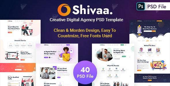Shivaa - Creative Digital Agency PSD Template - Corporate Figma