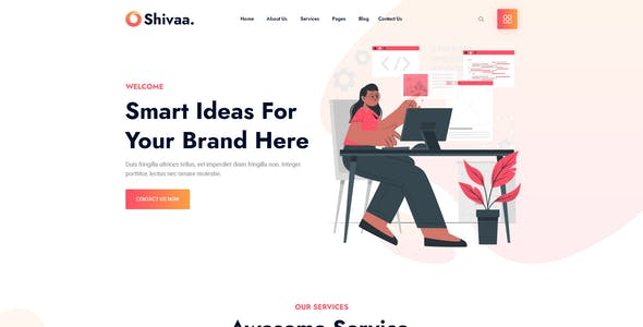 Shivaa - Creative Digital Agency PSD Template