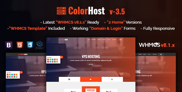 ColorHost   Responsive HTML5 Web Hosting and WHMCS Template