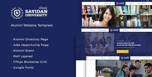 Sayidan - University Alumni WP theme - Education WordPress