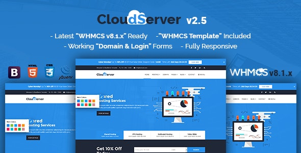 CloudServer   Responsive HTML5 Technology, Web Hosting and WHMCS Template - Hosting Technology