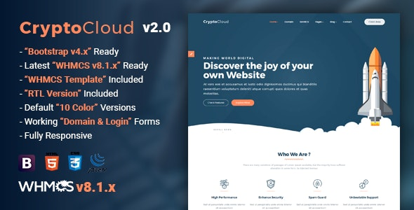 CryptoCloud   Multipurpose Hosting and WHMCS Template - Hosting Technology