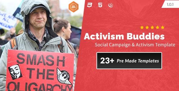 Activism Buddies - Social Campaign & Non Profit HTML5 Template - Activism Nonprofit