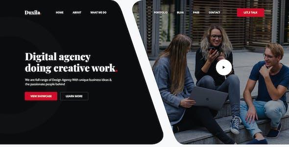 Duxila - Digital Agency PSD Template