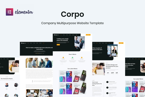 Corpo - Corporate Business Elementor Template Kit - Business & Services Elementor