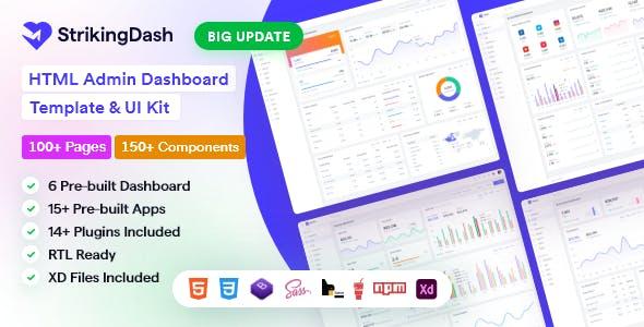 StrikingDash - HTML Admin Dashboard Template