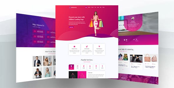 Affiliate - Html Landing Page