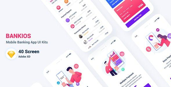 Bankios - Mobile Banking Sketch Template