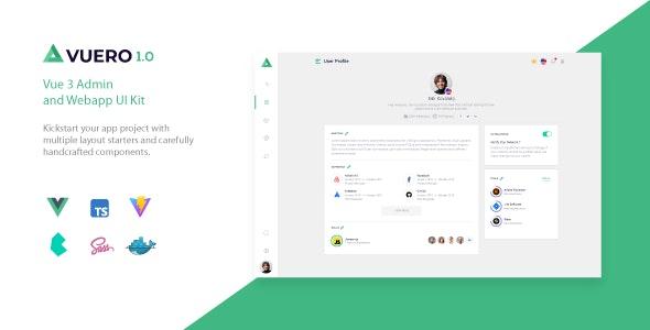 Vuero - VueJS 3 Admin and Webapp UI Kit - Admin Templates Site Templates