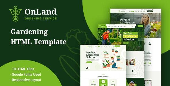 OnLand - Gardening HTML Template - Business Corporate