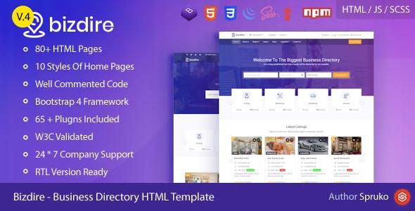Bizdire – Business Directory HTML Template