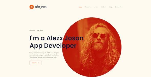 Alezx Joson - Personal Portfolio XD Template