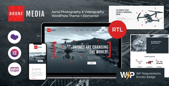 Drone Media | Aerial Photography & Videography WordPress Theme + Elementor - Photography Creative