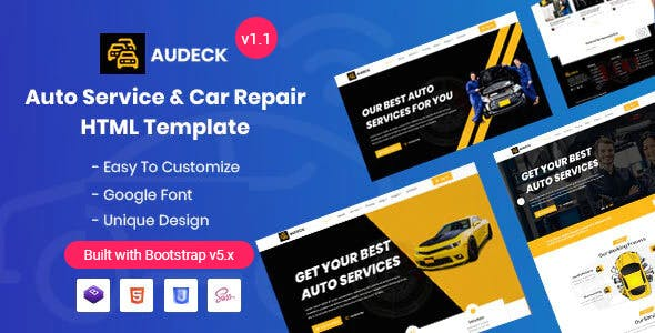 Audeck - Auto Servicing Bootstrap 5 Template