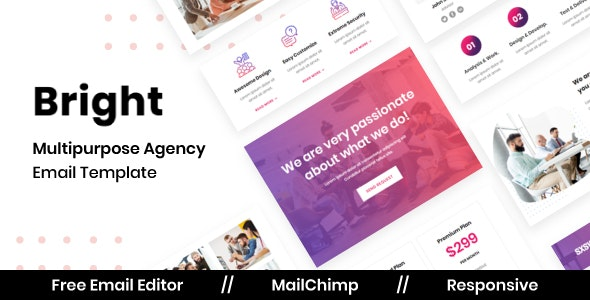 Bright Agency - Multipurpose Responsive Email Template - Newsletters Email Templates