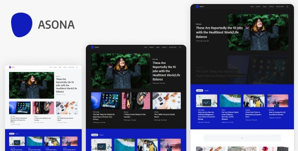 Asona - Creative Minimal Blog and Magazine WordPress Theme - Blog / Magazine WordPress