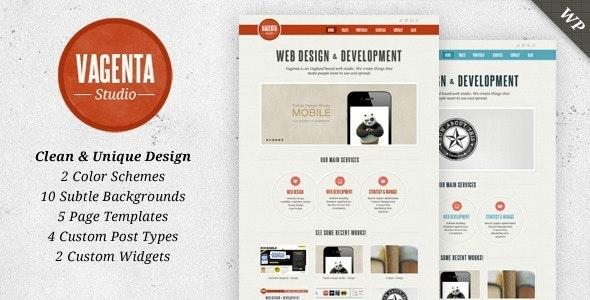 Vagenta - Clean and Unique WordPress Template - Portfolio Creative