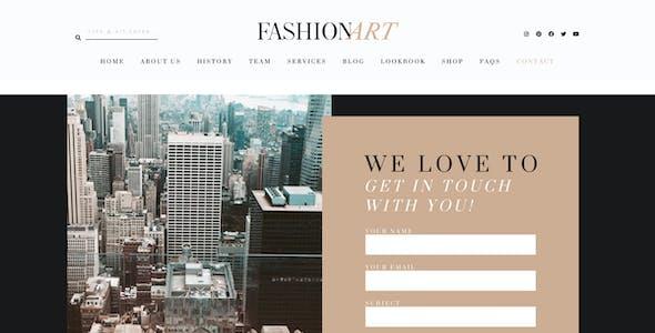 Fashion Art - WooCommerce Elementor Template Kit