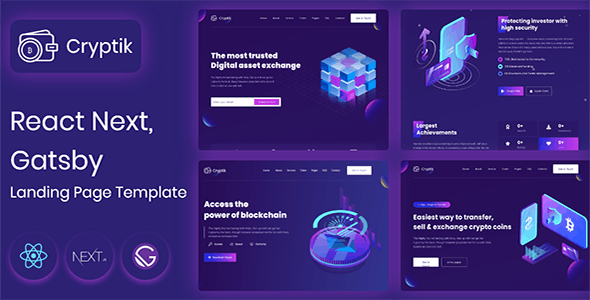 ICO Cryptik - Crypto Currency & ICO React landing Page