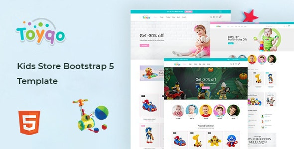 Toyqo - Kids Store Bootstrap 5 Template - Children Retail