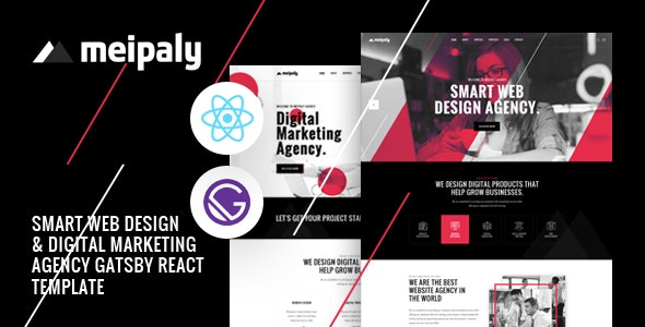 Meipaly - Gatsby React Digital Services Agency Template - Creative Site Templates