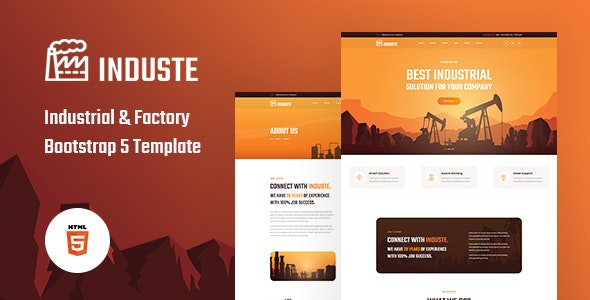 Induste Industrial & Factory Bootstrap 5 Template