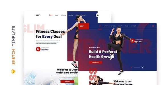 Josy – Fitness Template for Sketch