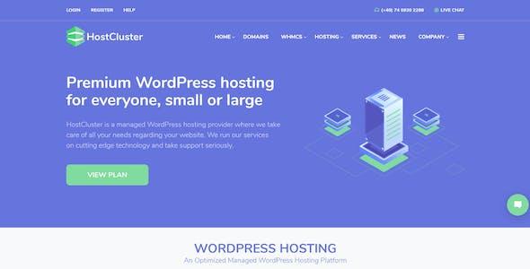 HostCluster - WHMCS Hosting WordPress Theme