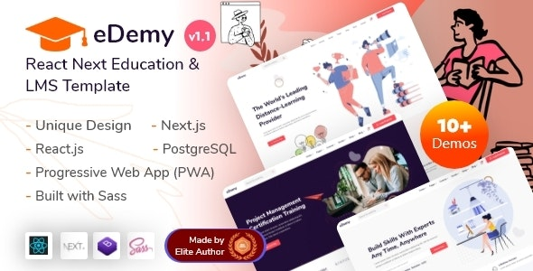 eDemy - React Next Education & LMS Template - Business Corporate